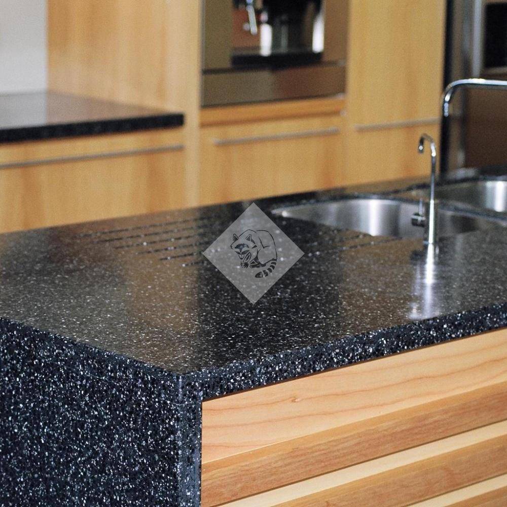 Столешница t 50мм иск.камень corian silverite столешница для кухни нержавейка
